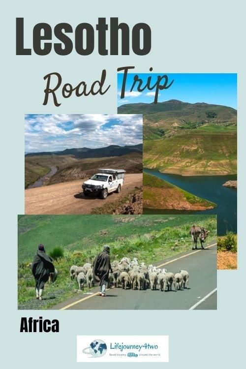 Lesotho Road Trip Pinterest pin