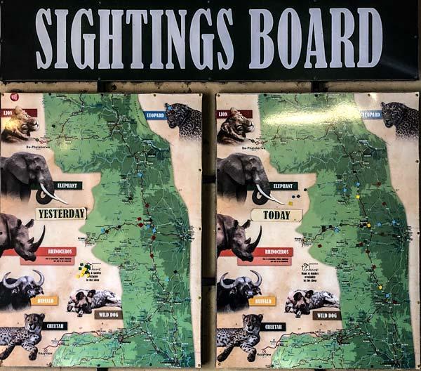 Sightings Board