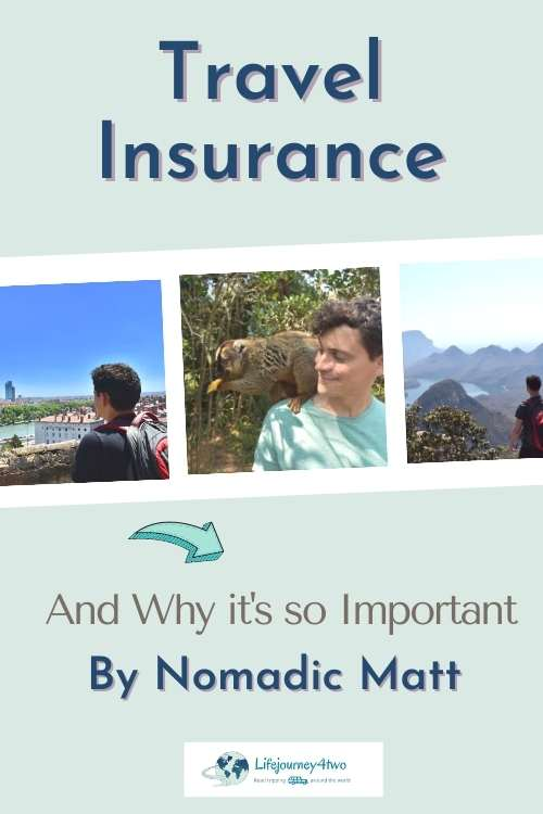 Importance of Travel insurance pinterest pin