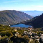 Mountains and lake in serra da estrela portugal