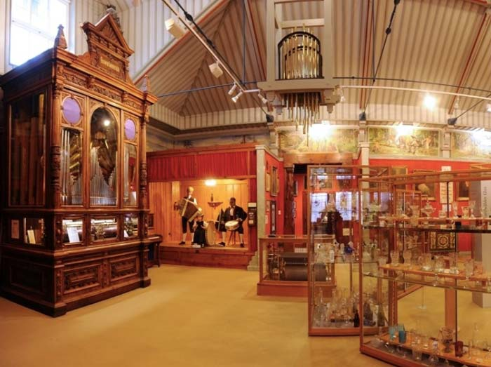 Triberg museum showing display cabinets